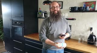 Thomas Berg Robenhagen med Kemiluppen