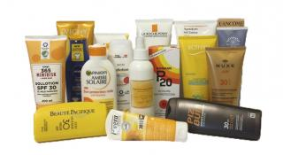 Sunscreen test chemicals